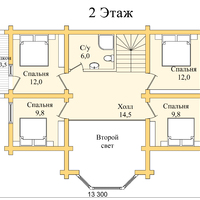 Срубовой дом до 100м2