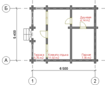 Проект срубовой бани 5Х5
