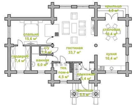 Проект дома из клееного бруса в самаре