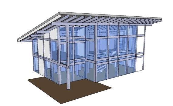 Проект одноэтажного дома Фахверк