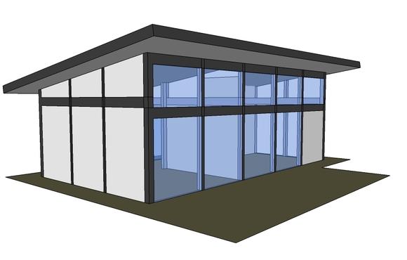 Проект одноэтажного дома фахверк 70м2