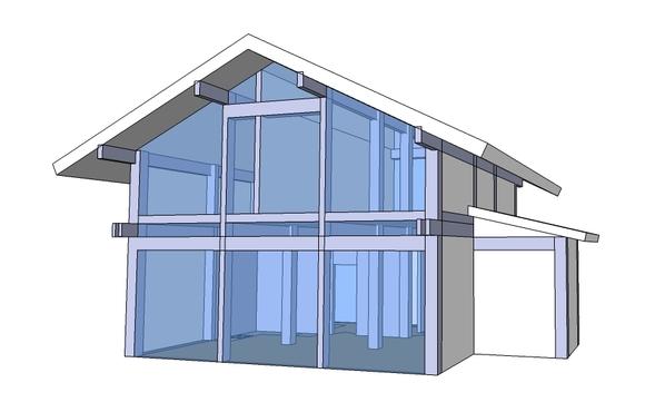 Двухэтажная баня из оцилиндрованного бревна