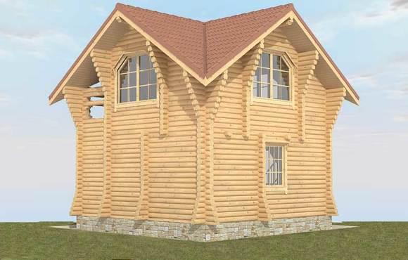 Гостевой дом - баня из бревна