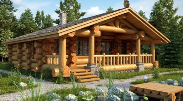 Дома из дикого бревна