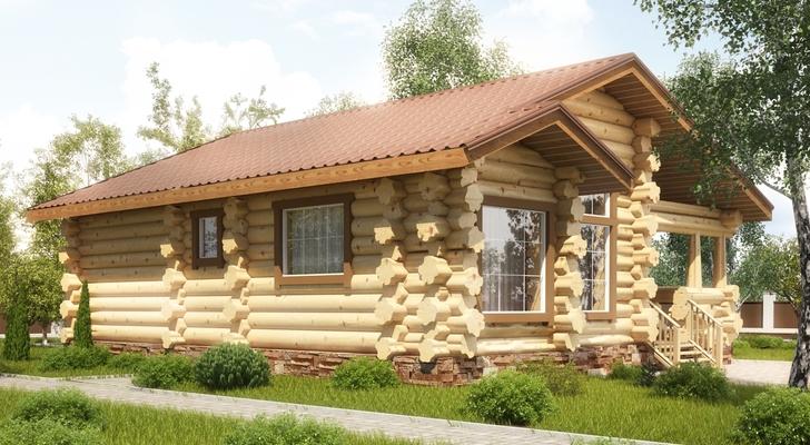 Дома из бревна ручной рубки